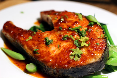 Salmon Cutlet with Chilli Jam
